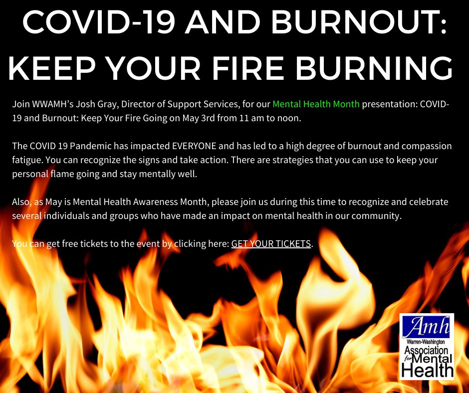 To Register go to https://www.eventbrite.com/e/covid-19-and-burnout-keep-your-fire-going-tickets-150059059687
